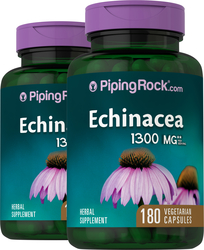 Echinacea 1300 mg (per serving), 180 Capsules x 2 Bottles