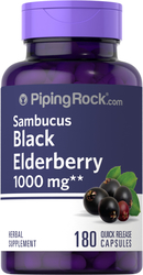 Elderberry Sambucus 1000 mg, 180 Capsules