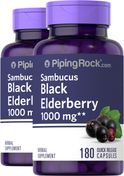 Elderberry Sambucus 1000mg 180 Capsules 2  Bottles