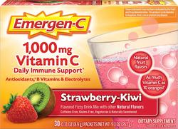 Emergen-C Vitamin C Powder Drink Mix (Strawberry-Kiwi), 1000 mg, 30 Packets