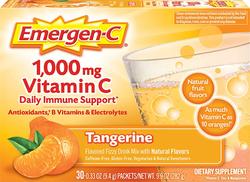Emergen-C Vitamin C Powder Drink Mix (Tangerine), 1000 mg, 30 Packets