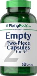 """Empty Gelatin Capsules Size """"0"""""""