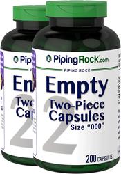 """Empty Gelatin Capsules Size """"000"""""""