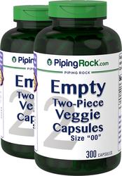 Empty 00 Vegetable Caps 2 bottles