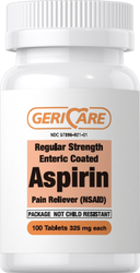 Entherisch beklede aspirine 325 mg 100 Enterisch gecoate tabletten