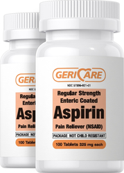 Buy Enteric Coated Aspirin 325 mg 2 x 100 Tablets