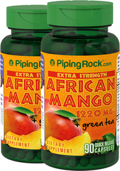 African Mango 1220 mg & Green Tea 2 Bottles x 90 Capsules