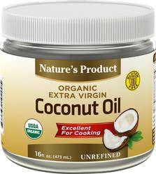 Extra Virgin Coconut Oil (Organic), 16 fl oz (473 mL) Bottle