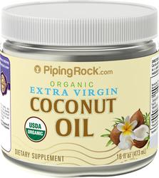 Aceite de coco virgen extra (Orgánico) 16 fl oz (473 mL) Botella/Frasco
