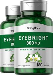 Eyebright 800 mg, 180 Capsules x 2 Bottles