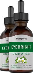 Eyebright Liquid Extract (Alcohol Free), 2 fl oz (59 mL) Dropper Bottle x 2 Bottles