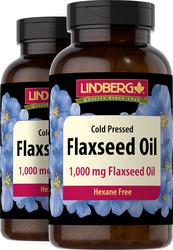 Flaxseed Oil 1000 mg, 180 Sg x 2 bottles