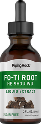 Extrait liquide de racine de Fo-Ti Cured (Ho-Shou-Wu) 2 fl oz (59 mL) Compte-gouttes en verre