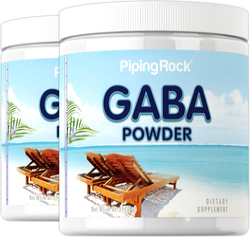 GABA en polvo (ácido gama aminobutírico) 6 oz (170 g) Botellas/Frascos