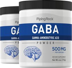 GABA σε μορφή σκόνης (γ-αμινοβουτυρικό οξύ) 6 oz (170 g) Φιάλες