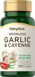 Чеснок 1000мг и красный стручковый перец 150 мг 180 Быстрорастворимые гелевые капсулы