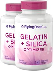 Gelatin + Silicon 2 Bottles x 180 Capsules