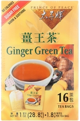 Gember groene thee 16 Theezakjes