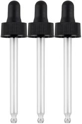 3 Comptes-gouttes en verre (pour remplir deux flacons de 60ml) 3 Compte-gouttes