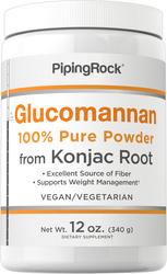 Glucomannan Puro em Pó (Raiz Konjac) 12 oz (340 g) Frasco
