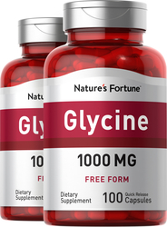 Glycine, 1000 mg, 100 Capsules, 2  Bottles