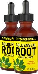 Goldenseal Liquid Extract Alcohol Free, 1 fl oz (30 mL) Dropper Bottle x 2 Bottles