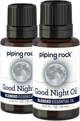 Good Night Essential Oil 2 Dropper Bottles x 1/2 oz (15 ml)