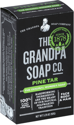 สบู่ Grandpa's Pine Tar Bar Soap 3.25 oz (92 g) แท่ง