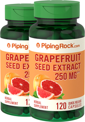 Grapefruit Seed Extract 250 mg 120 Capsules 2 Bottles