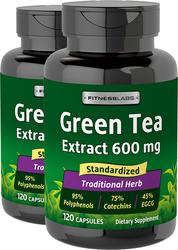 Green Tea Standardized Extract 600 mg, 120 Caps x 2 Bottles