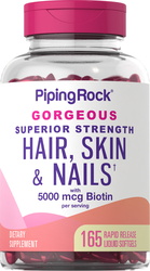 Hair, Skin & Nails infused with Moroccan Argan Oil   165 Softgels