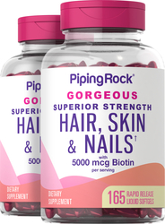 Hair, Skin & Nails infused with Moroccan Argan Oil 2 Bottles x 165 Softgels