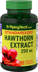 Hawthorn Extract 250 mg, 180 Capsules