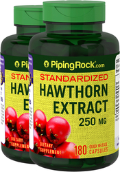 Hawthorn Extract 250 mg, 180 Capsules x 2 Bottles