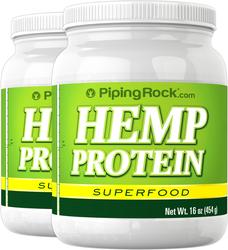 Hemp Protein Powder, 16 oz (454 g) Bottle