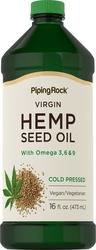 Hemp Seed Oil (Cold Pressed) 16 fl oz (473 mL)