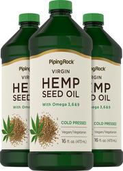 Конопляное масло, холодного отжима 16 fl oz (473 mL) Флаконы