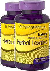 Herbal Laxative Triple Action, 120 Capsules x  2 Bottles