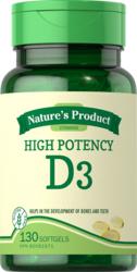 Nagy hatékonyságú D3 vitamin 130 Puha gél