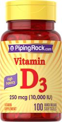 Vitamin D 10,000 IU 100 Softgels