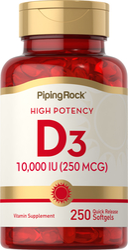 Nagy hatékonyságú D3 vitamin 250 Gyorsan oldódó szoftgél