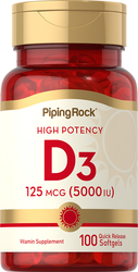 Vitamin D3 Kepotenan Tinggi  100 Gel Lembut Lepas Cepat