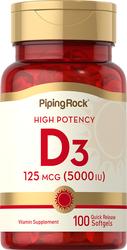 Vitamina D3 gran energía  100 Cápsulas blandas de liberación rápida