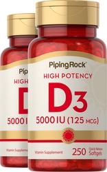 Høypotent Vitamin D3  250 Hurtigvirkende myke geleer