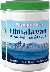 Sais Minerais Rosa do Himalaia 26.5 oz (750 g) Frascos