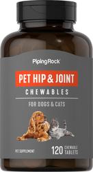 犬猫用ヒップ & ジョイント (股関節サポート) 120 チュアブル錠剤