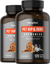 Joint & Hip Supplement for Dogs & Cats 2 x 120 Chewable Tablets