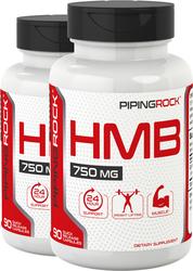 HMB 750 mg, 90 Capsules x 2 Bottles