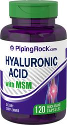 Ácido hialurónico con MSM 120 Cápsulas de liberación rápida