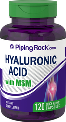 Hyaluronanzuur met MSM 120 Snel afgevende capsules